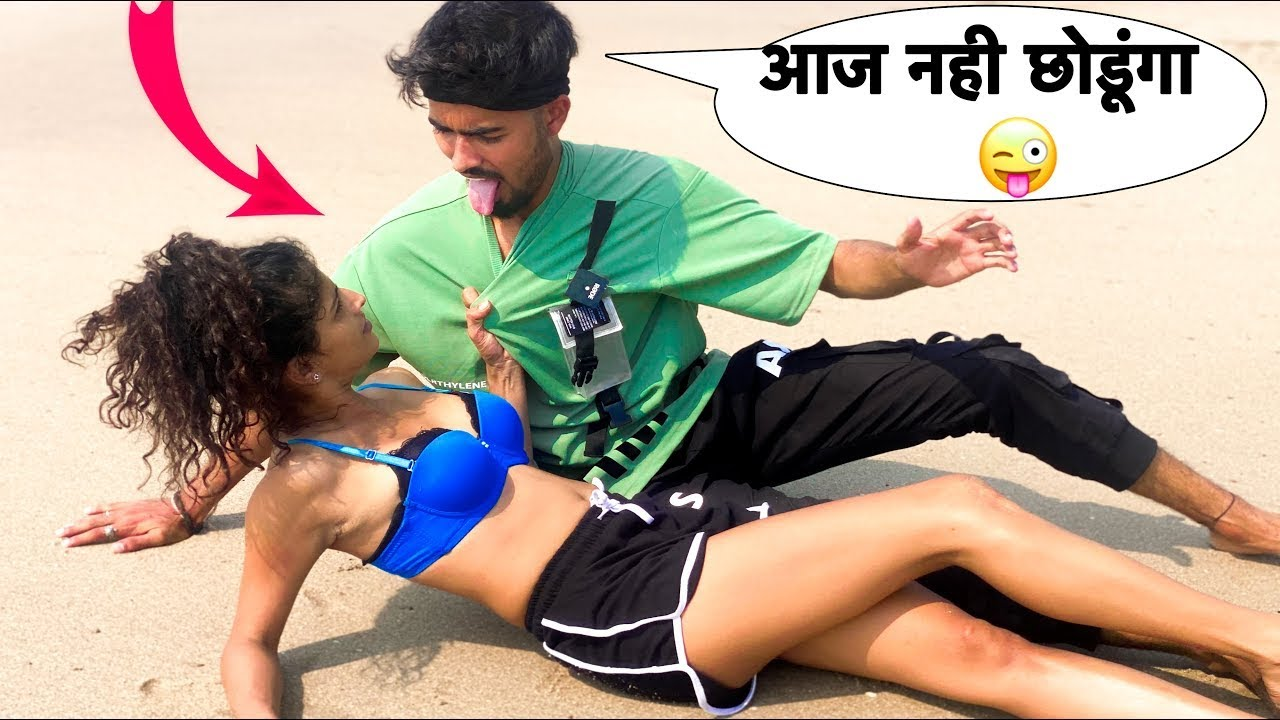 Bikini Me Ladki Ke Sath Kiya Ghapa Ghap Prank | Bharti  Prank |