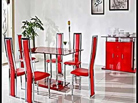 Feuer im modernen Design -- rotes Esszimmer - YouTube