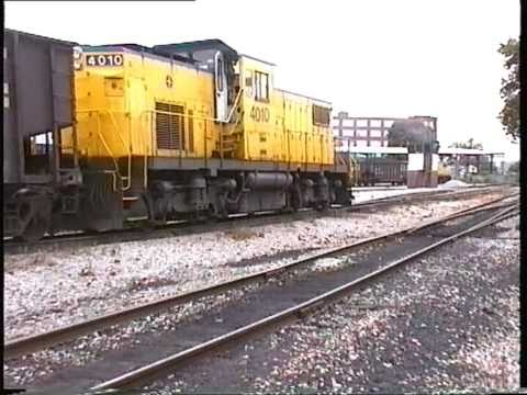 Alco C415 Switching Coal Cars At Ohio River Terminal, Huntington, WV, 1997