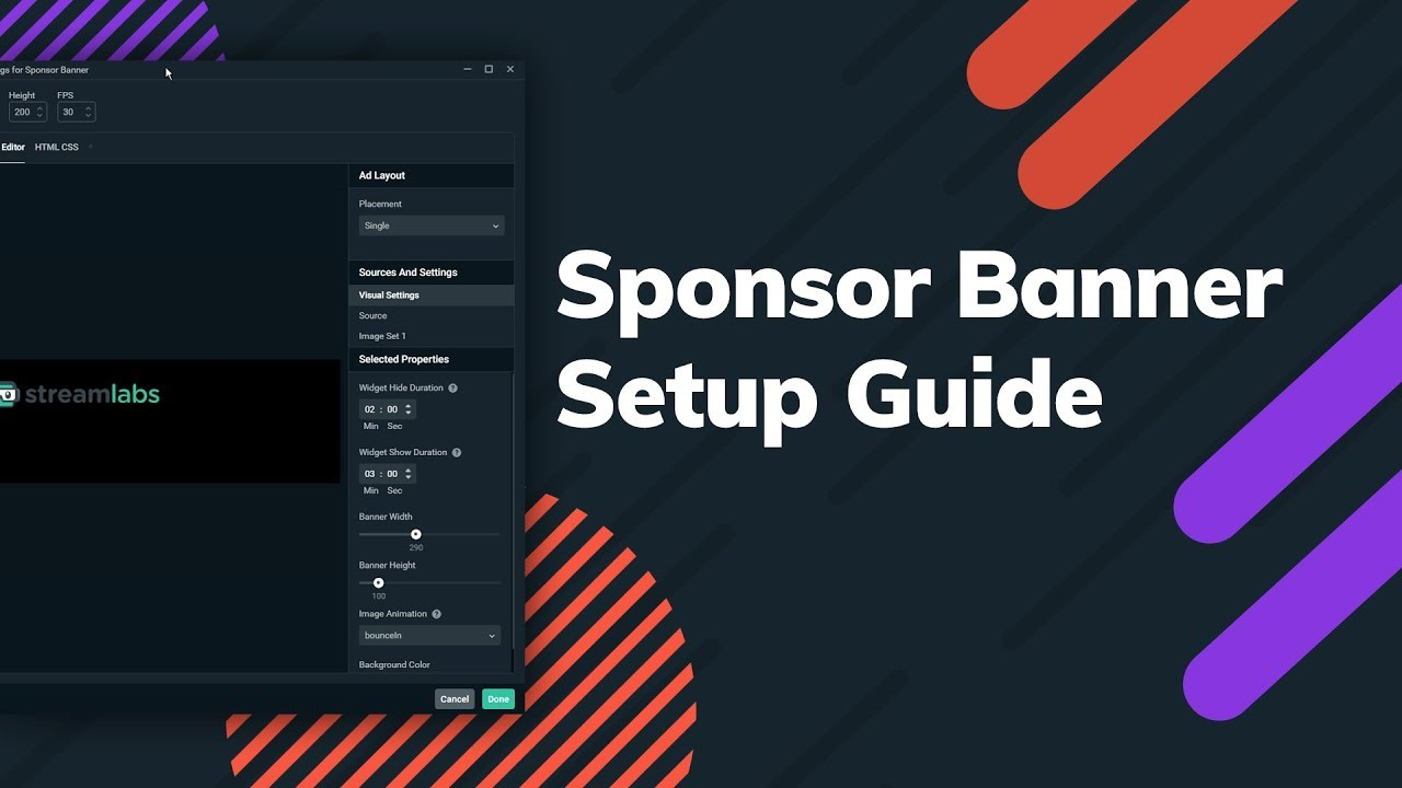 How to Set Up a Sponsor Banner in Streamlabs