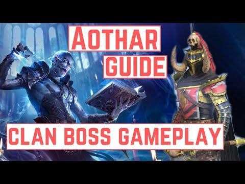 AOTHAR [GUIDE & MASTERIES] + Nightmare Clan Boss Gameplay - RAID SHADOW LEGENDS