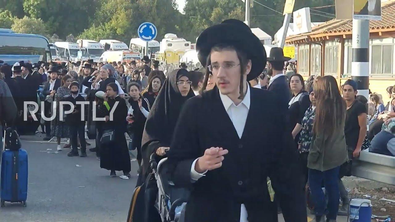 Israel: Ambulances arrive after deadly festival disaster in Meron