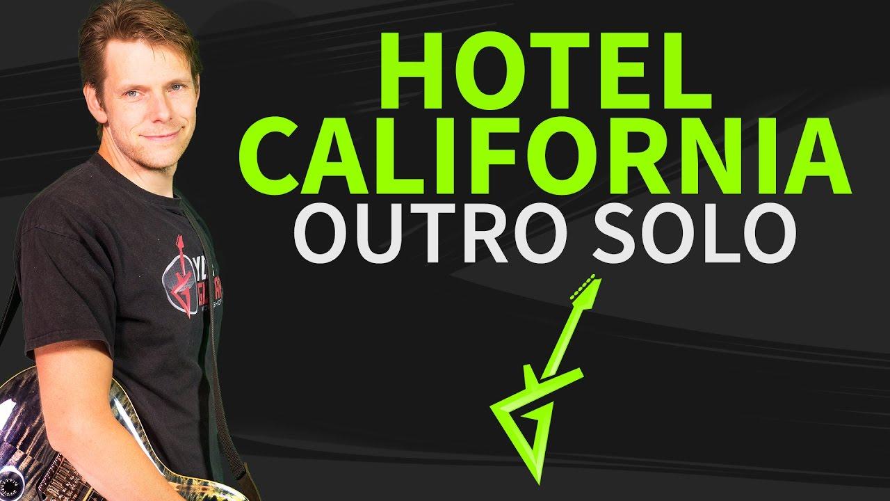 hotel california guitar lesson tab outro solo youtube. Black Bedroom Furniture Sets. Home Design Ideas