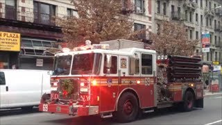 FDNY Engine 69 Responding Back To 2 Alarm Fire ReIgniting Itself After it Was Already Put Out