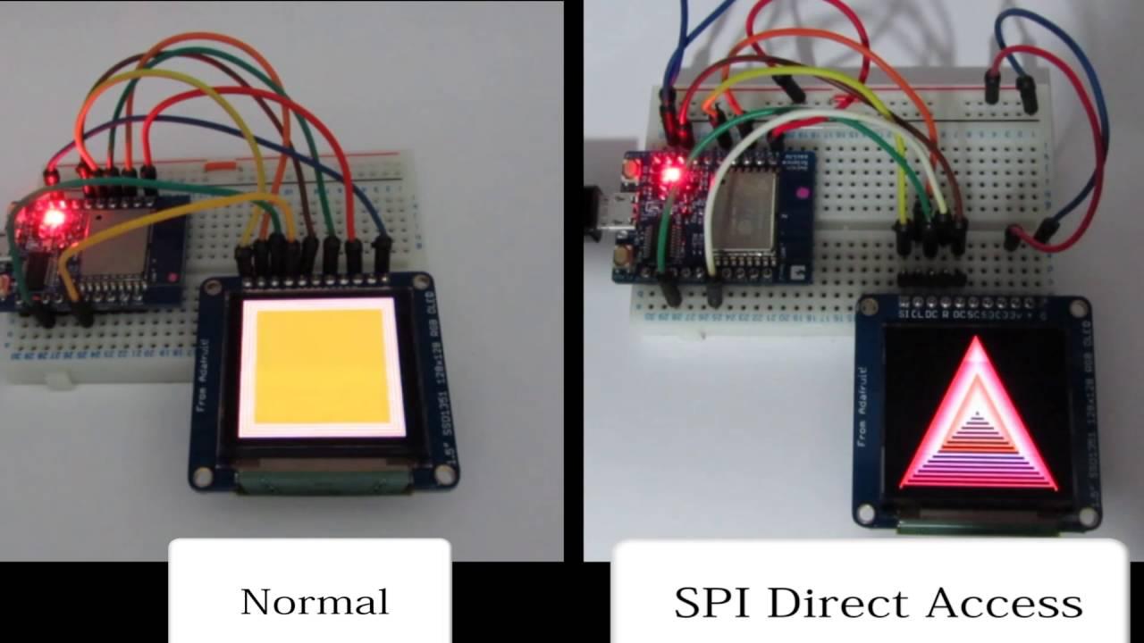 ESP8266 SPI normal speed or GPIO Direct Access