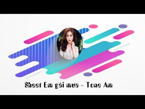 Sheet nhạc em gái mưa - Hương Tràm tone La Thứ