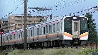 E129系B3編成 信越本線下り普通451M 長岡→新潟→豊栄