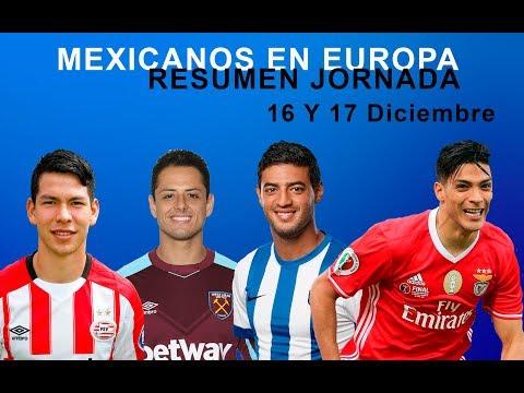 RESUMEN MEXICANOS EN EUROPA JORNADA 16 Y 17 DE DICIEMBRE