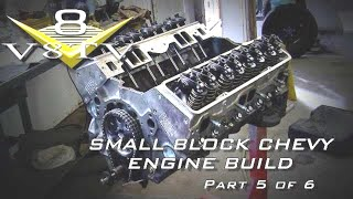 Engine Building Tips 6-Part Video Series Small Block Chevy Part 5 Piston Clearance Head Installation