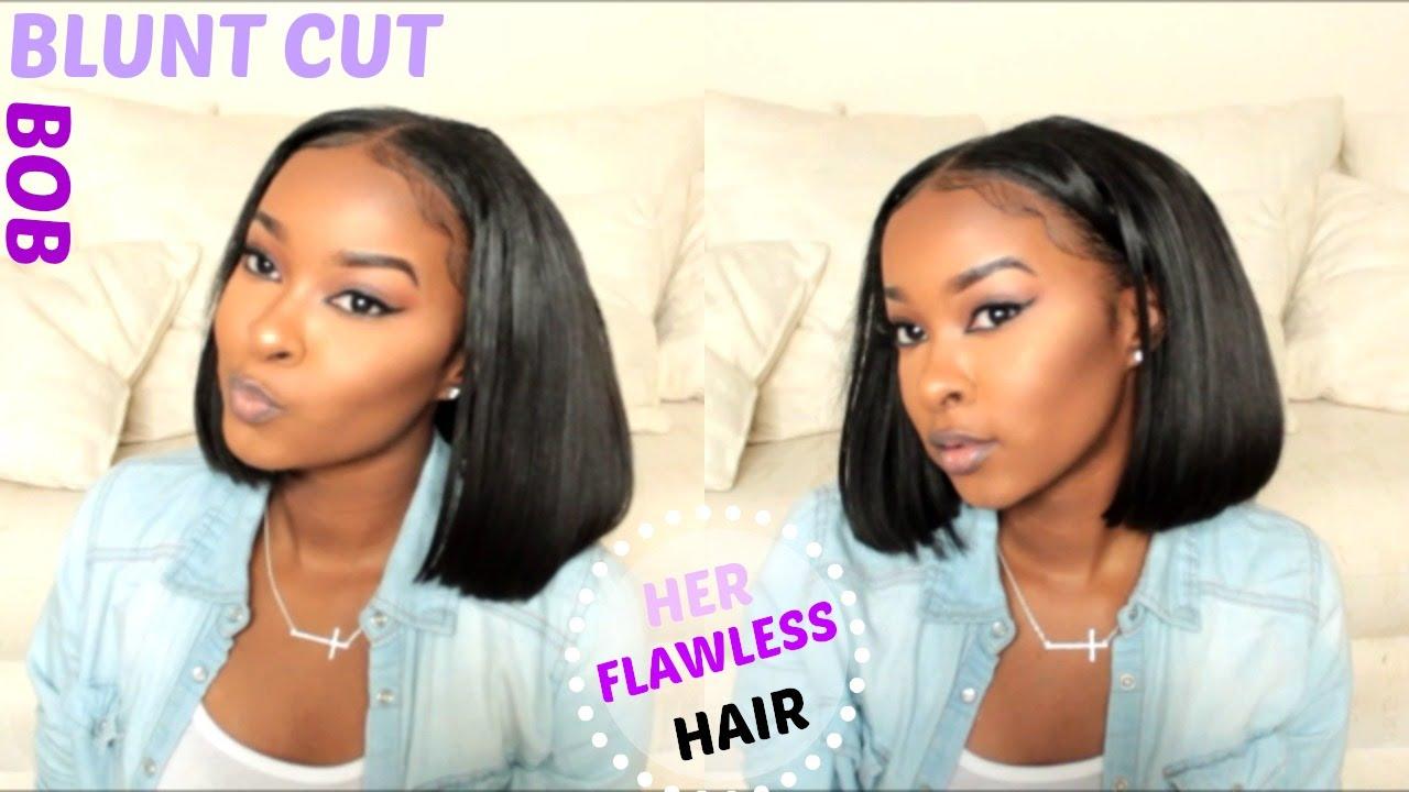 How to cut style blunt cut bob herflawless hair beginner how to cut style blunt cut bob herflawless hair beginner friendly youtube solutioingenieria Gallery