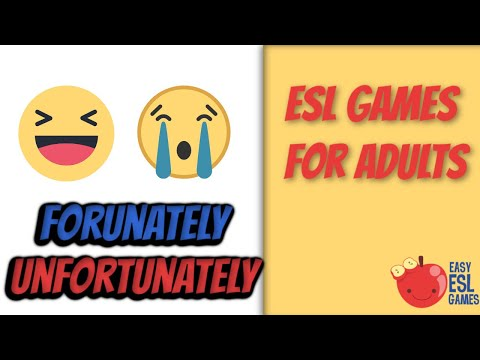 ESL Games For Adults | Fortunately / Unfortunately (A Story Chain) with audio | Easy ESL Games