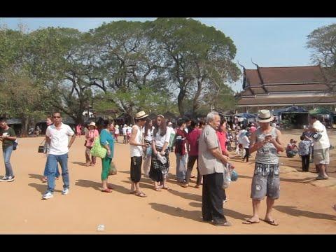 Walking Around Angkor Wat Temple at Siem Reap Province