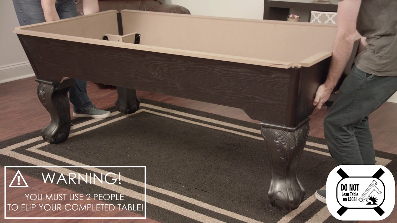 Maserton BIlliard Table Assembly Video