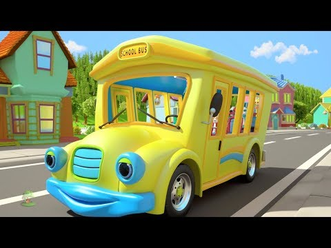 Wheels on the Bus | Kindergarten Nursery Rhymes for Children | Cartoon Song by Little Treehouse