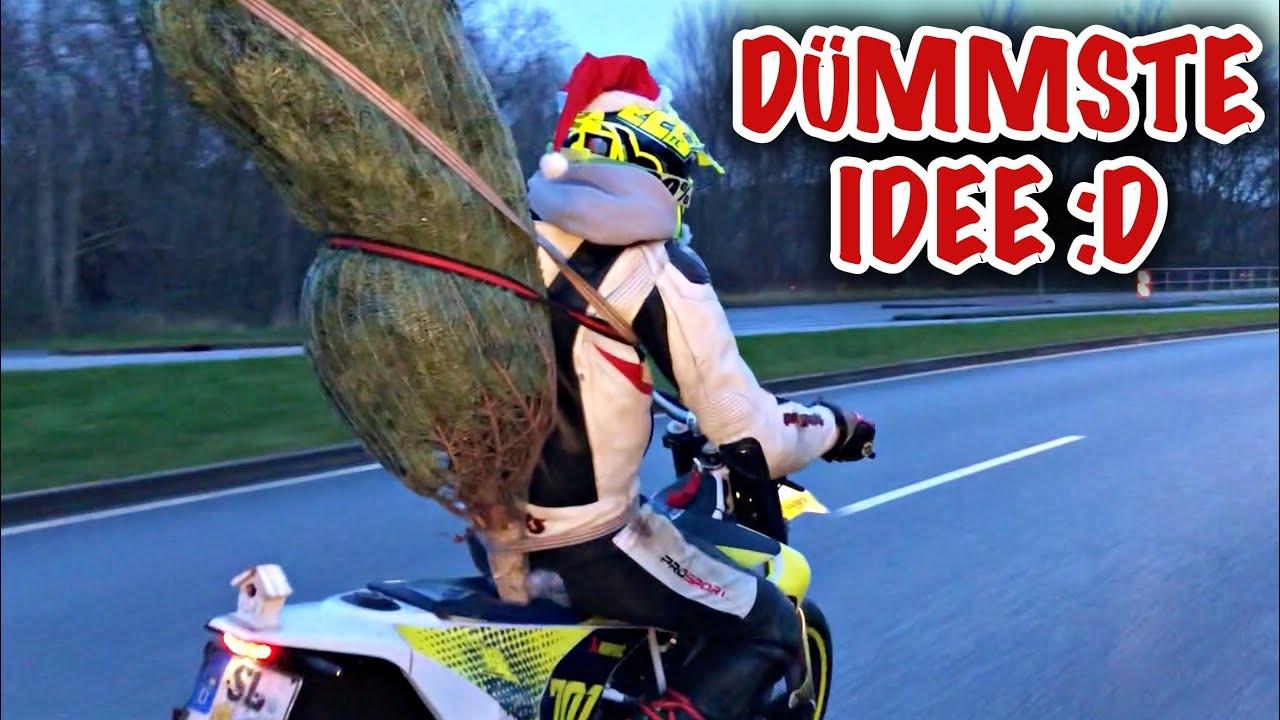 Tannenbaum mit dem Motorrad abholen! |ZU LUSTIG - YouTube