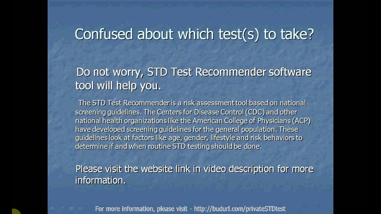 At Home STD Test or At Home HIV Test - YouTube