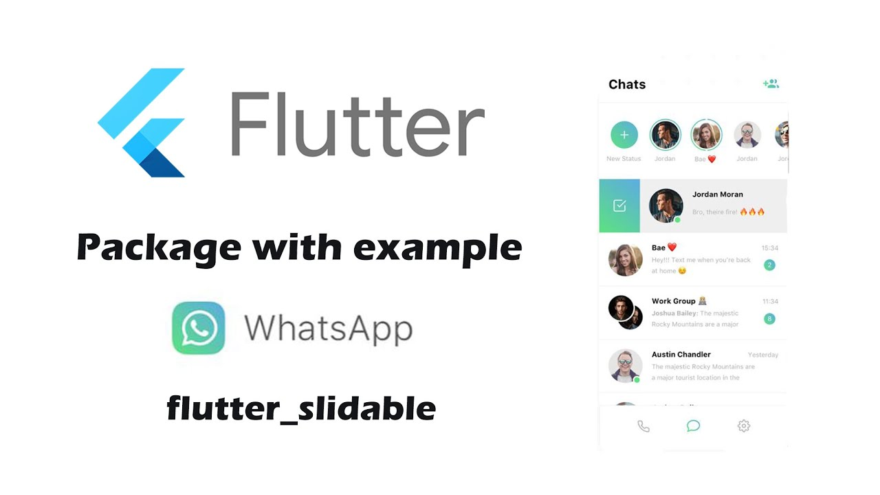 Flutter WhatsApp UI | slidable package