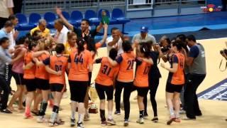 أجواء الفرحة بعد الإنتصار و الفوز بكأس تونس لكبريات كرة اليد 2015