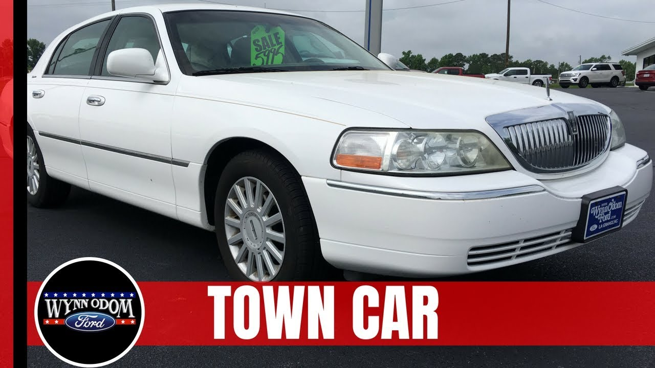 2005 Lincoln Town Car Signature Vibrant White Wynn Odom Ford Youtube