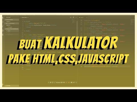 Buat Kalkulator - HTML CSS JS - 2019