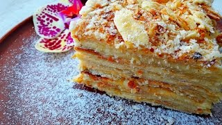 Наполеон. Торт Наполеон. Наполеон Рецепт. Слоеное тесто.Заварной Крем. Торт Рецепт. Домашний Рецепт.