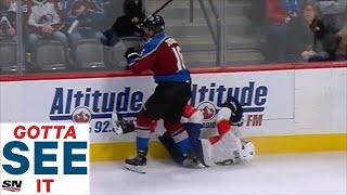 GOTTA SEE IT: Nikita Zadorov Bulldozes Jayce Hawryluk Into The Boards With Huge Hit