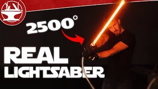 One of the Hacksmith's most viewed videos: 2500° LIGHTSABER BUILD