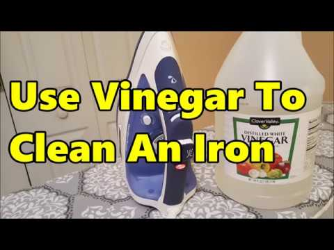 Cleaning An Iron with Vinegar | It Works!