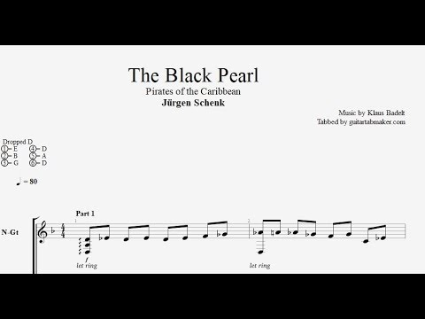 The Black Pearl TAB - fingerstyle classical guitar tab - PDF - Guitar Pro