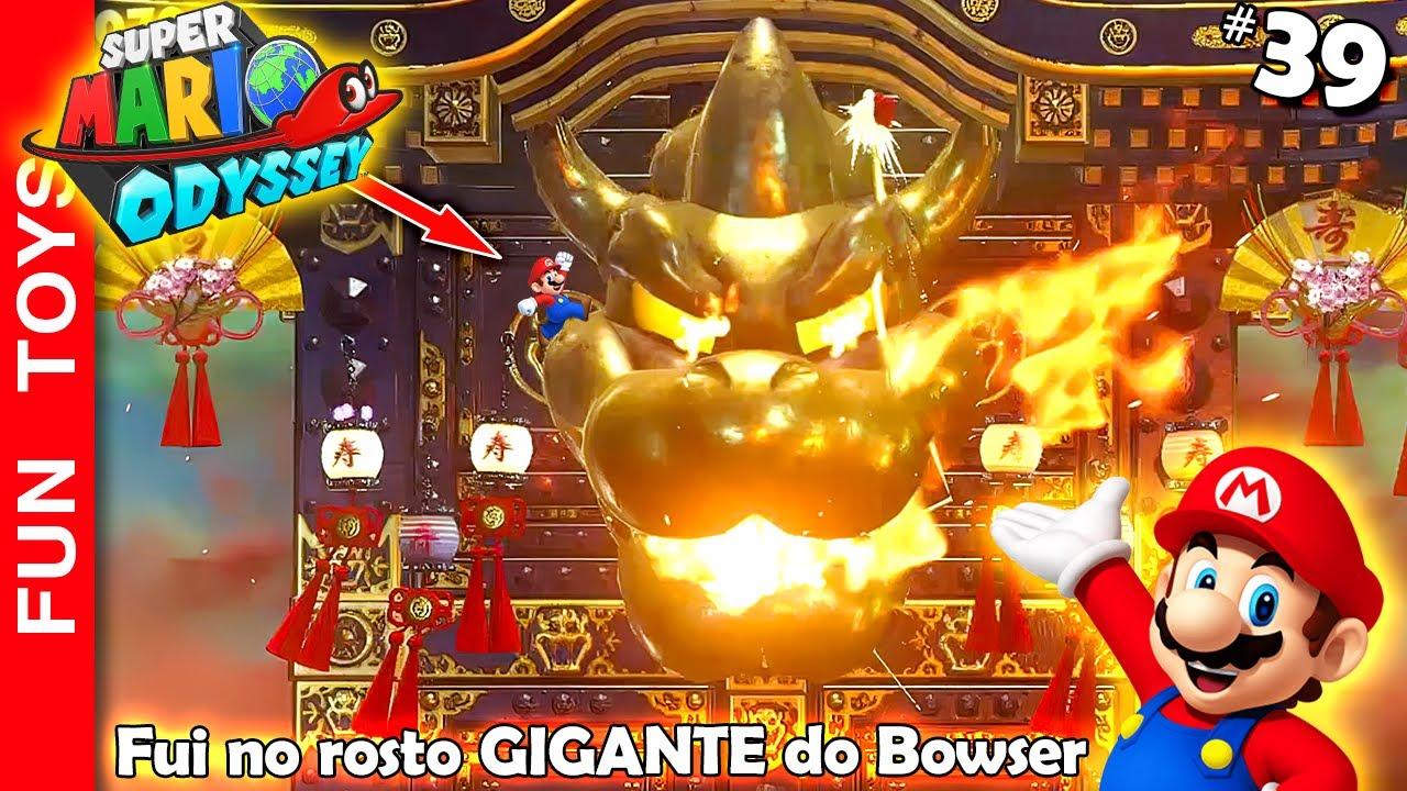🔴 Super Mario Odyssey #39 - Fui no rosto GIGANTE do Bowser! A SAGA das 500 luas está quase no final!