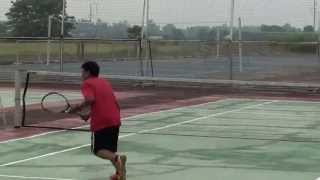 Revine Fernandez Vs JR Dignadice Tennis game