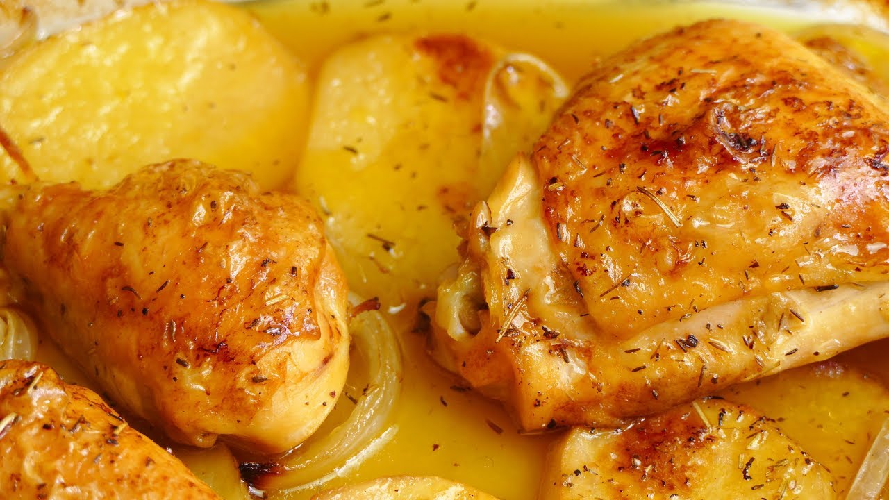 Baked Chicken With Beer Potatoes And Onion Easy Recipes