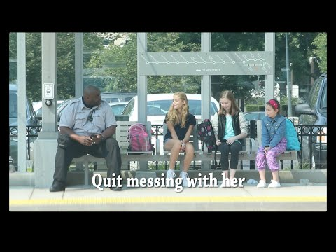 A middle school girl is bullied at a bus stop to ask the question, does anyone care enough to intervene?