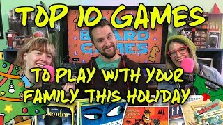 Top 10 Board Games To Play With Your Family This Holiday! | Glh5 Board Games
