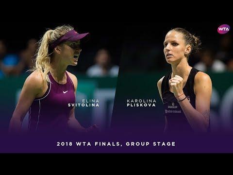 Elina Svitolina vs. Karolina Pliskova   2018 WTA Finals Singapore Round Robin   WTA Highlights