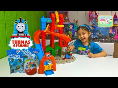 MY FIRST THOMAS AND FRIENDS TOY TRAIN TRACKS Thomas Surprise Toys Bling Bags Kinder Surprise Egg