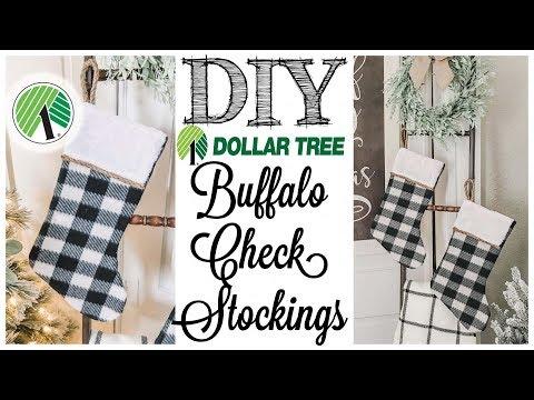DIY Dollar Tree Farmhouse Stockings | ONLY $3!!!