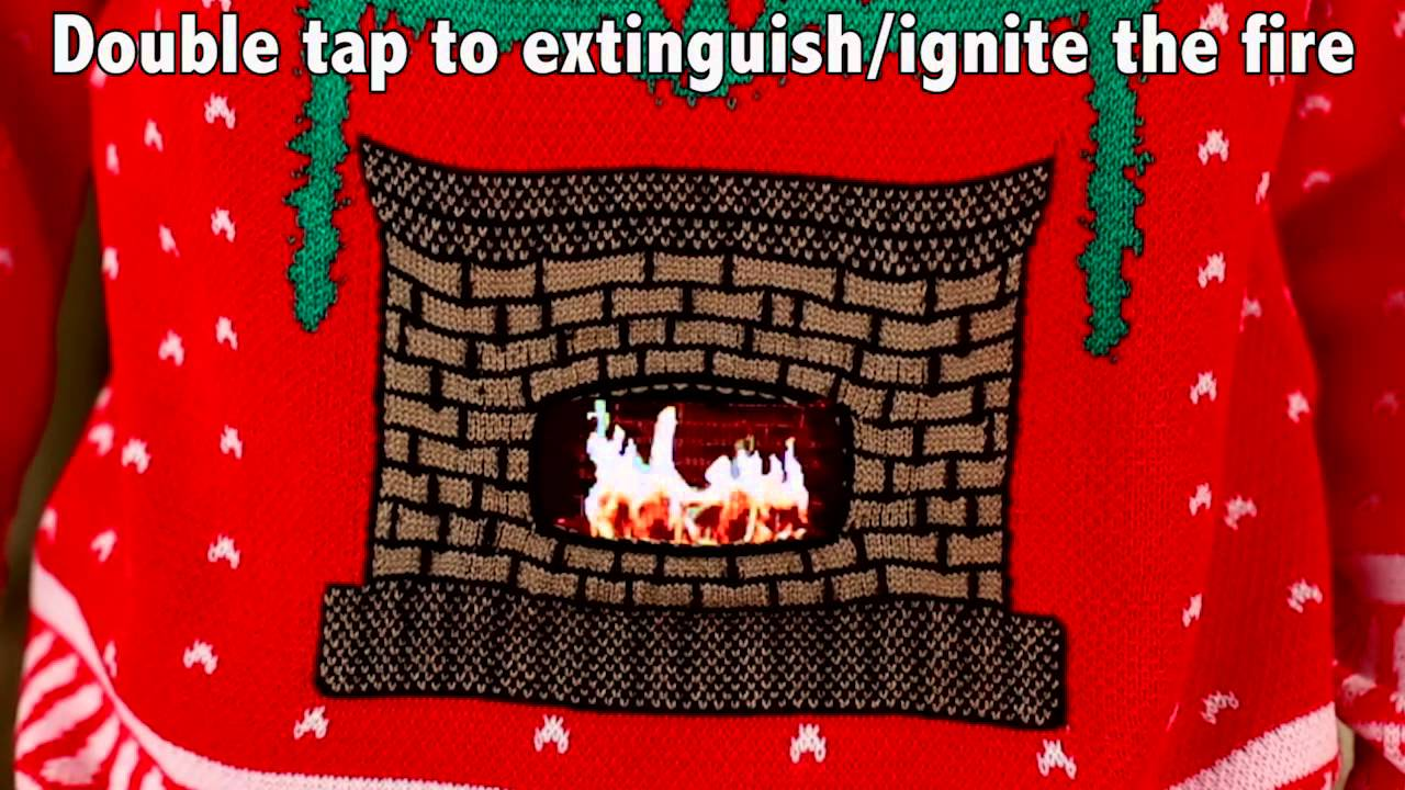 5a434accc Knitted Crackling Fireplace Ugly Christmas Sweater- Digital Dudz Christmas  2013 - YouTube