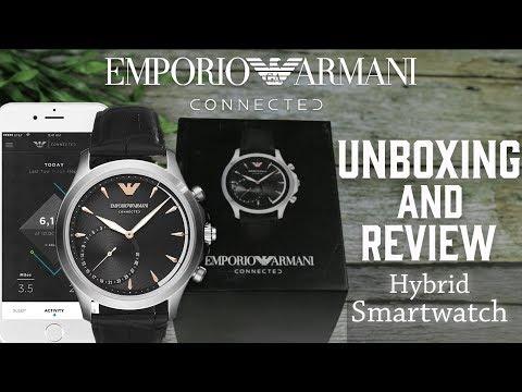 Jam Tangan Pria   Emporio Armani Hybrid Smartwatch ART3013