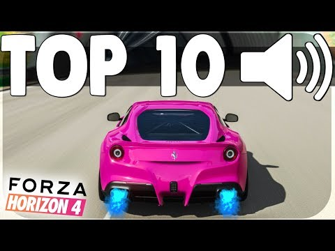 TOP 10 BEST SOUNDING CARS in FORZA HORIZON 4 !! | Pure Sound, Backfires & Downshifts  | 🔊🔊🔊