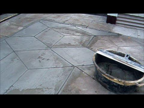 видео: БЕТОНИРУЮ ДВОР В ВИДЕ ТРОТУАРНОЙ ПЛИТКИ. Сoncreted court