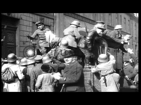 German Army And Freikorps In Berlin During The Kapp Putsch Of 1920 HD Stock Footage