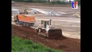 Refilling A Open Pit Mine / Auffüllung Tongrube Leutenbach, Germany, 23.05.2006.