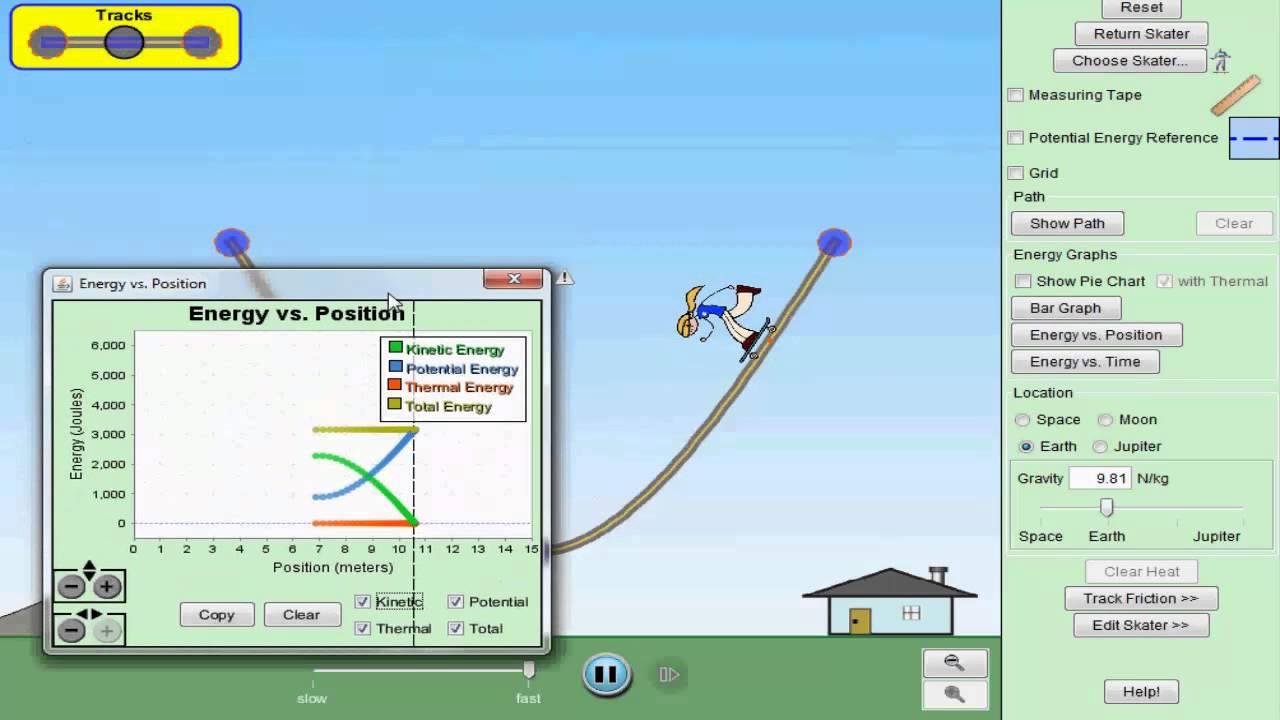 Energy Skate Park Simulation YouTube – Energy Skate Park Worksheet