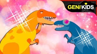 ▶Genikids Dino Movie◀ #14 DINOSAURS. Fall in LOVE | Dinosaurs Short Cartoon for Kids