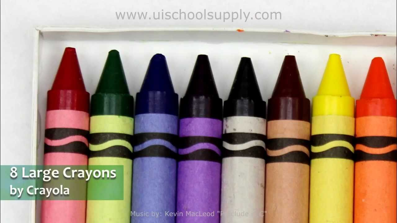 8 large assorted color crayons by crayola youtube