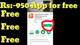 Rs:-950 app for free. Video show pro apk for free by Tech with bharani