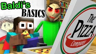 BALDI\'S BASICS BECOME CRAZY TEACHER in Monster School - Minecraft Animation