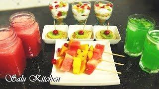 How to Make Simple Iftar Breakfast / Fruit Platter / Nombuthura