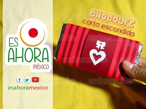 Carta Escondida Para El 14 De Febrero Chocolate